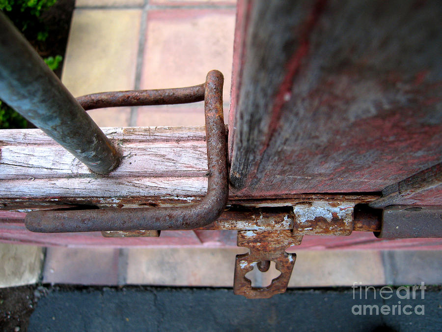 Rusty Gate Latch Photograph