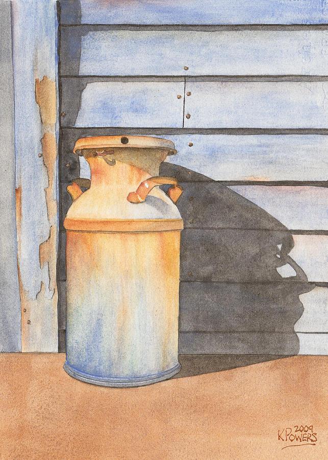 Rust Painting - Rusty Milk by Ken Powers