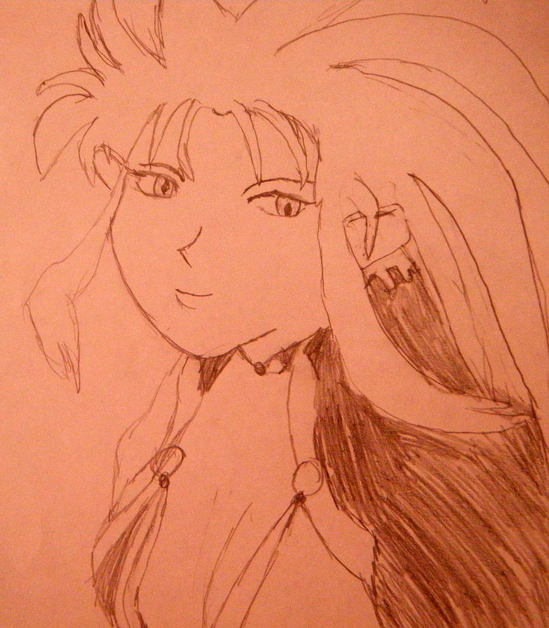 Portraits Drawing - Ryoko by April Patterson