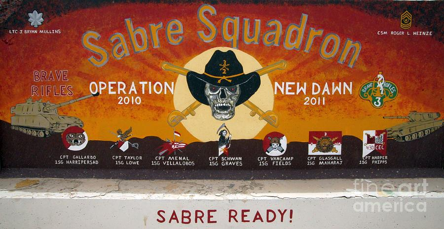 3rd Armored Cavalry Regiment (3acr) Photograph - Sabre Squadron - Ond by Unknown