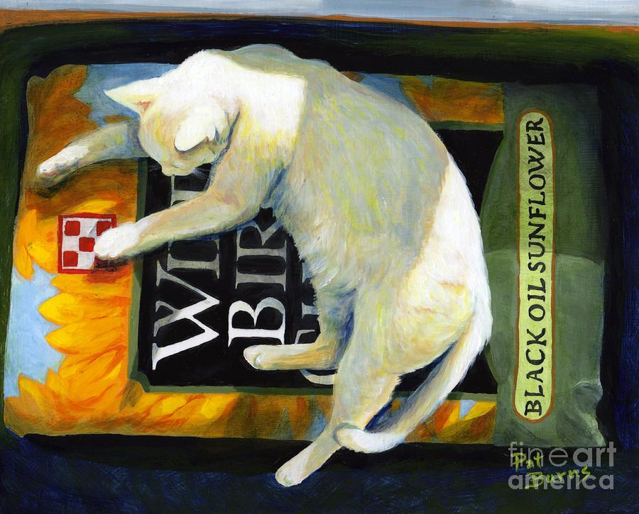Cat Painting - Sacked Out by Pat Burns