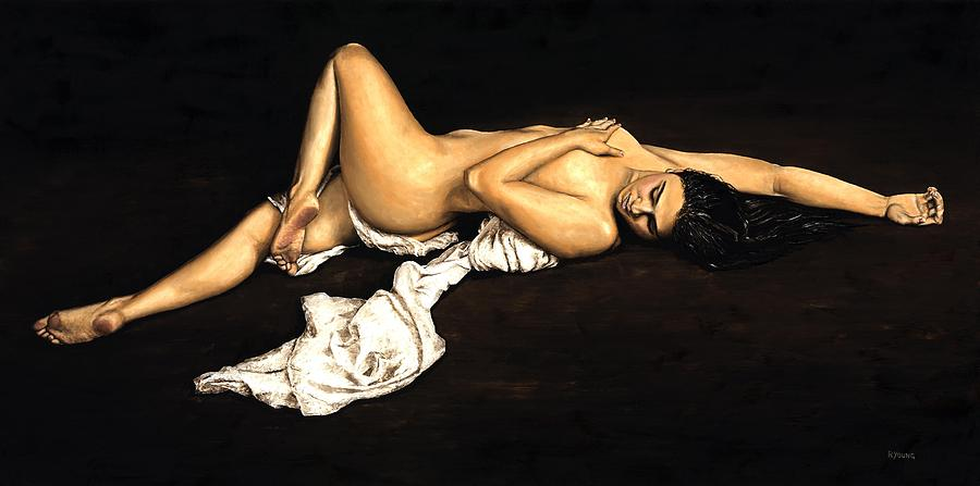 Nude Painting - Sacred by Richard Young