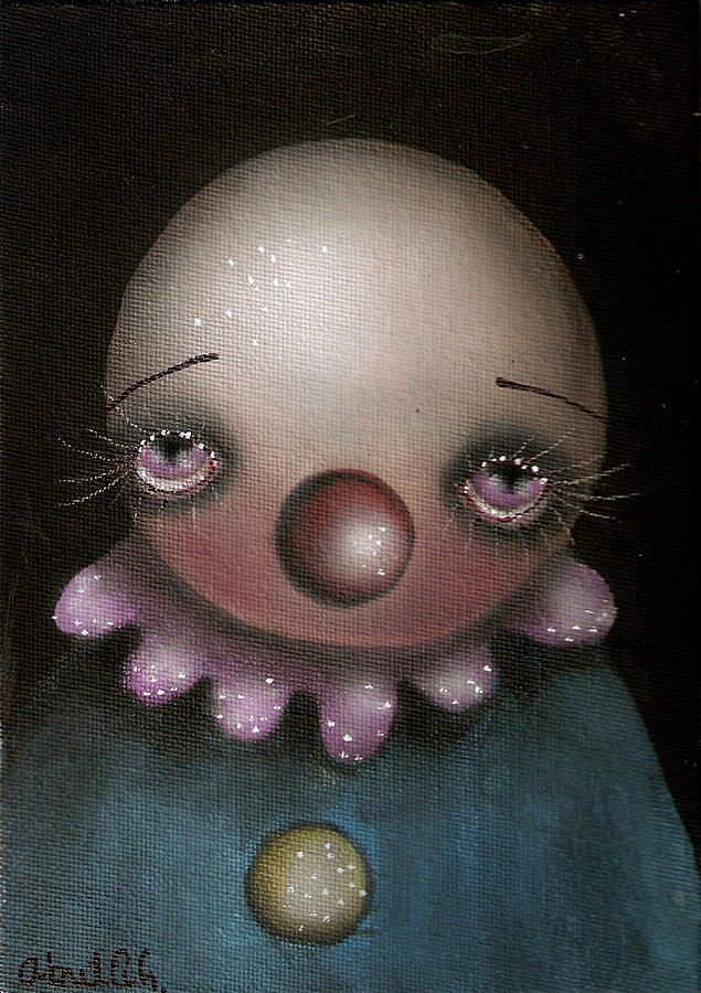Abril Andrade Griffith Painting - Sad Clown by  Abril Andrade Griffith