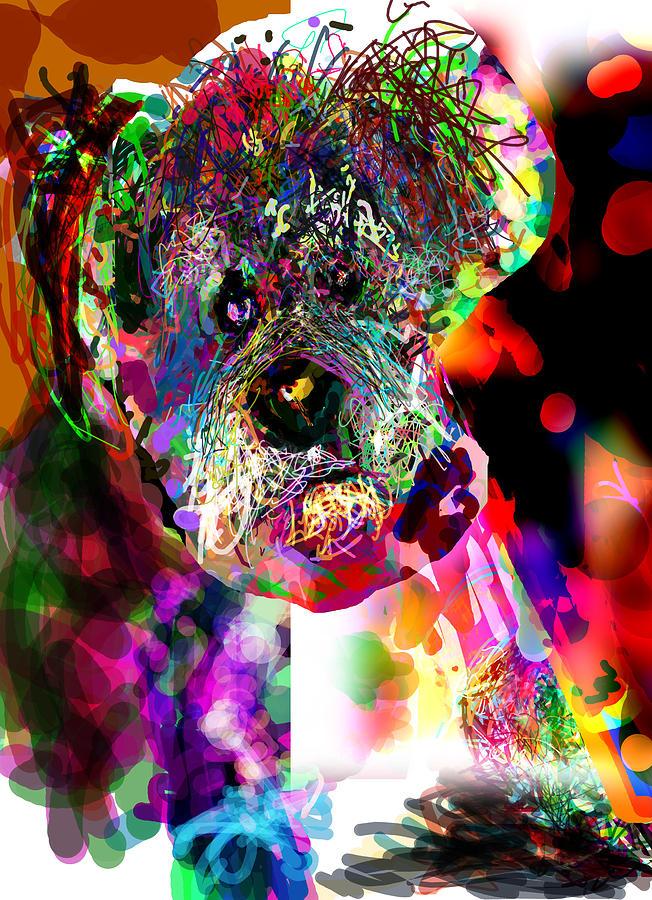 Dog Digital Art - Sad Dog by James Thomas