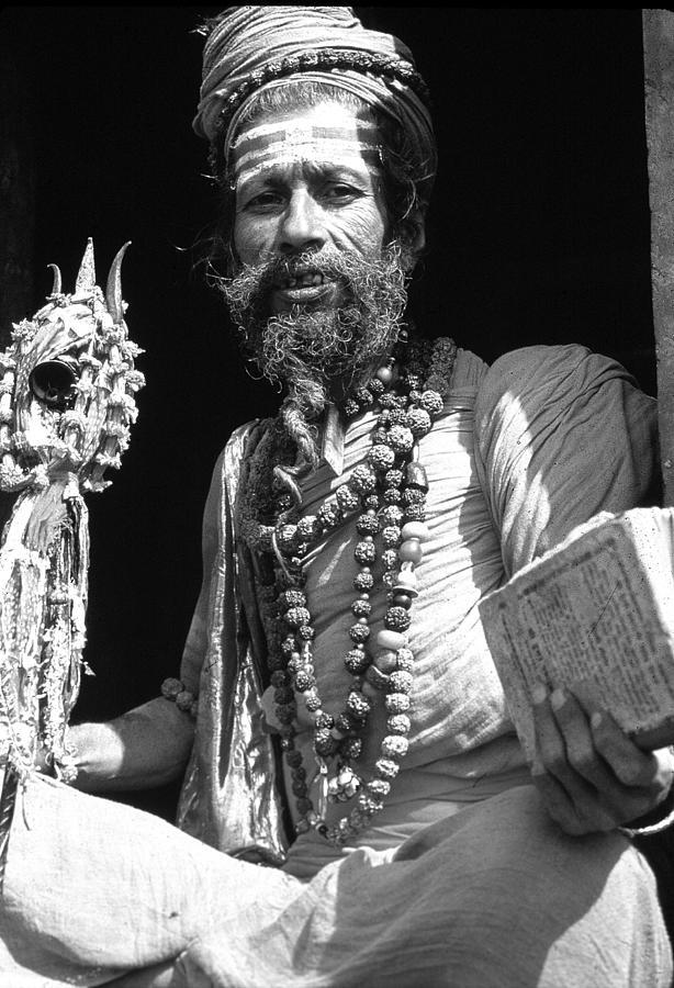 Religious Photograph - Sadu Bw by Addison Fitzgerald