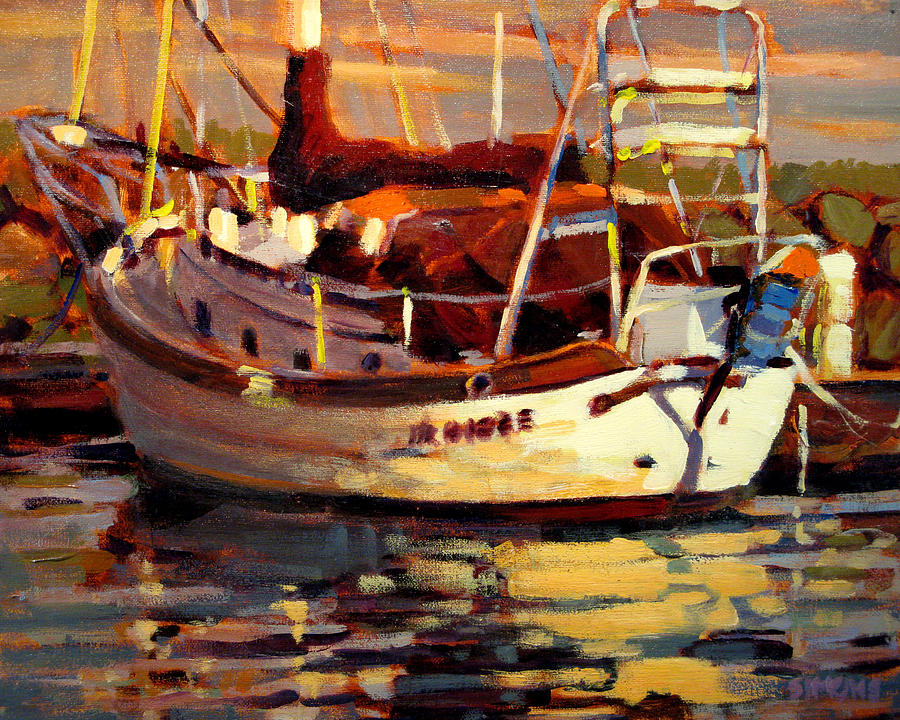 Sailboat Paintings Painting - Sailboat by Brian Simons