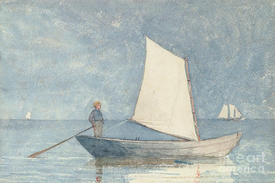 Sailing A Dory Painting
