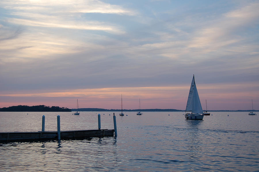 University Of Wisconsin Photograph - Sailing At The Uw - Madison by Lisa Patti Konkol