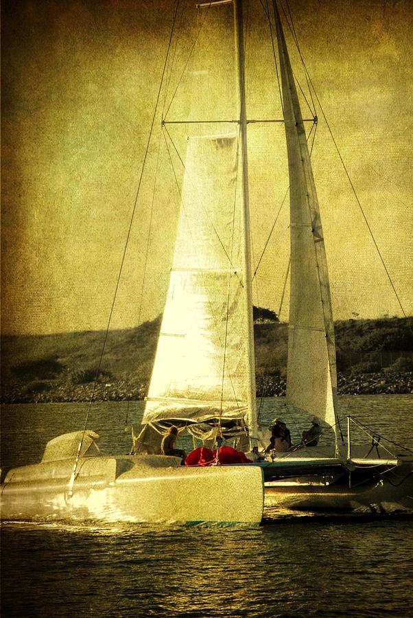 Sailing Boat Photograph - Sailing Away by Susanne Van Hulst