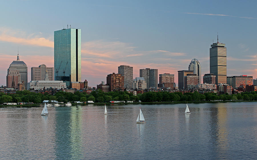 Boston Photograph - Sailing Boston by Juergen Roth