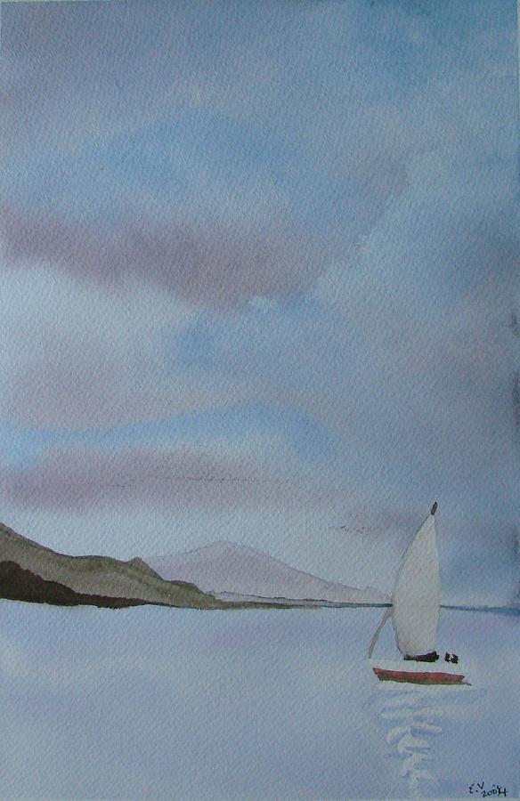 Sailboat Painting - Sailing by Liz Vernand