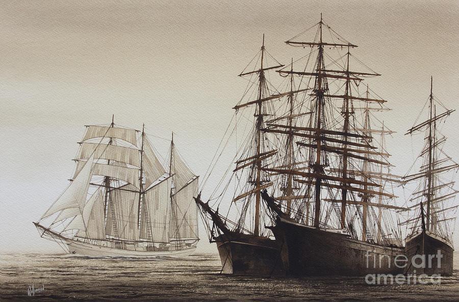 Sailing Ships Painting