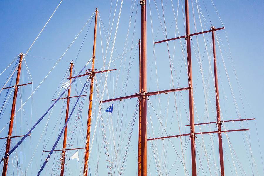 Mattiollikainen Photograph - Sails In Santorini by Matti Ollikainen