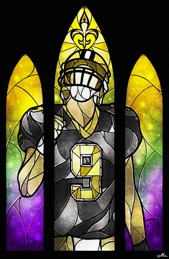 Drew Brees Digital Art - Saint Brees by Mandie Manzano