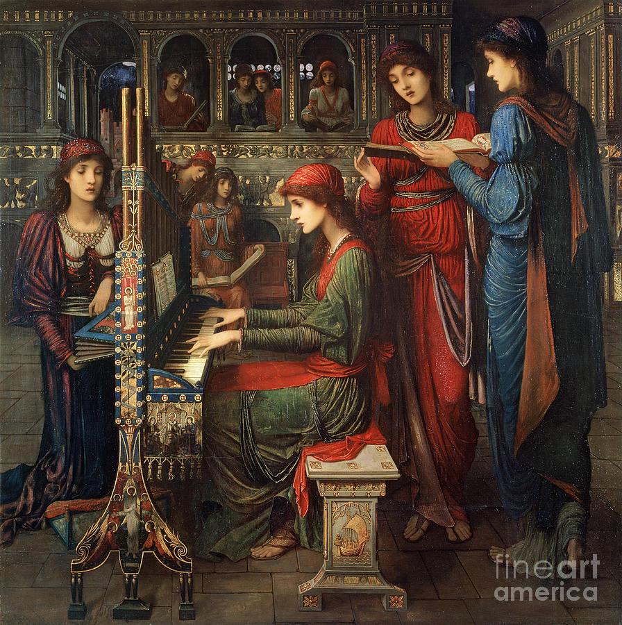 Organ; Singing; Choir; Saint; Cecile Painting - Saint Cecilia by John Melhuish Strudwick