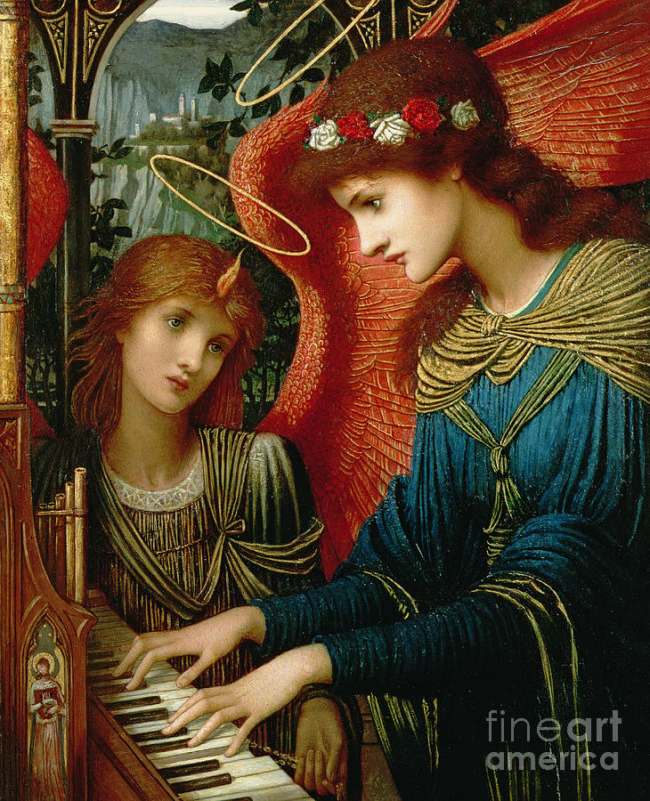 St. Cecilia Painting - Saint Cecilia by John Melhuish Strukdwic