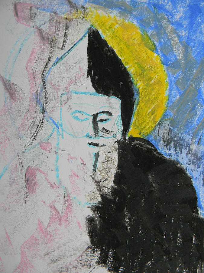 Saints Drawing - Saint Charbel by Marwan George Khoury