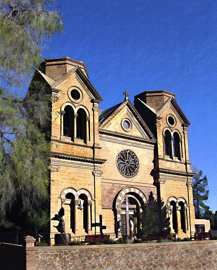 Saint Francis Photograph - Saint Francis Cathedral Santa Fe by Kurt Van Wagner
