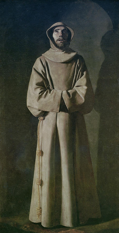 Francis Painting - Saint Francis by Francisco de Zurbaran