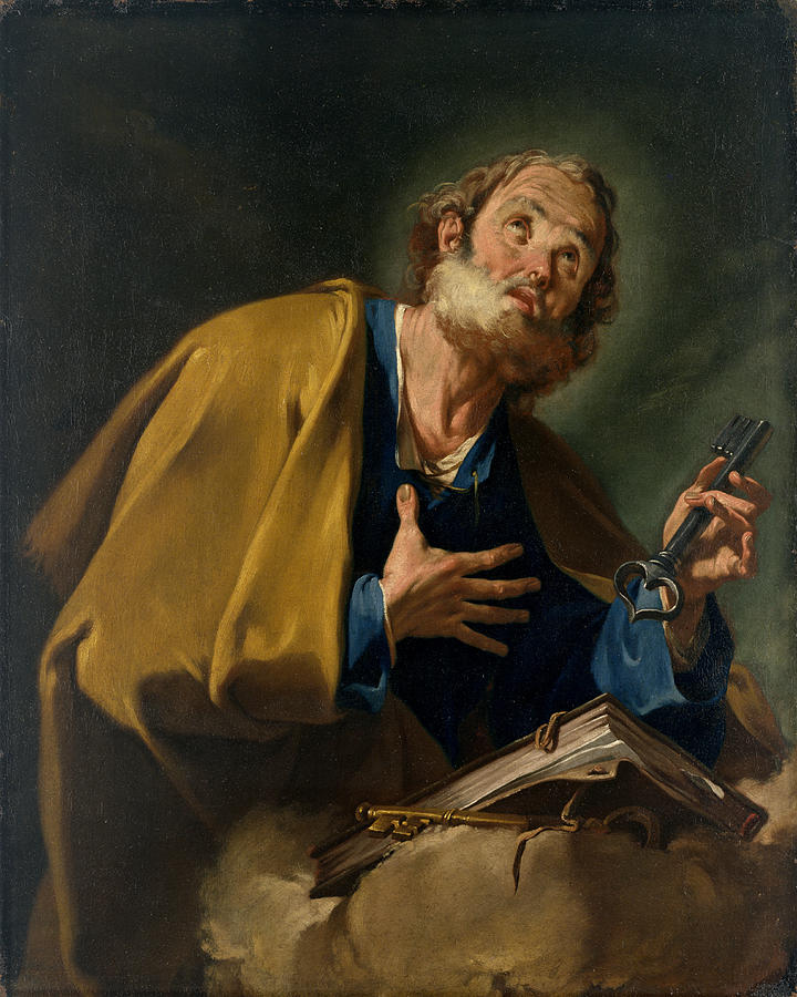 Peter Painting - Saint Peter by Giovanni Battista Pittoni