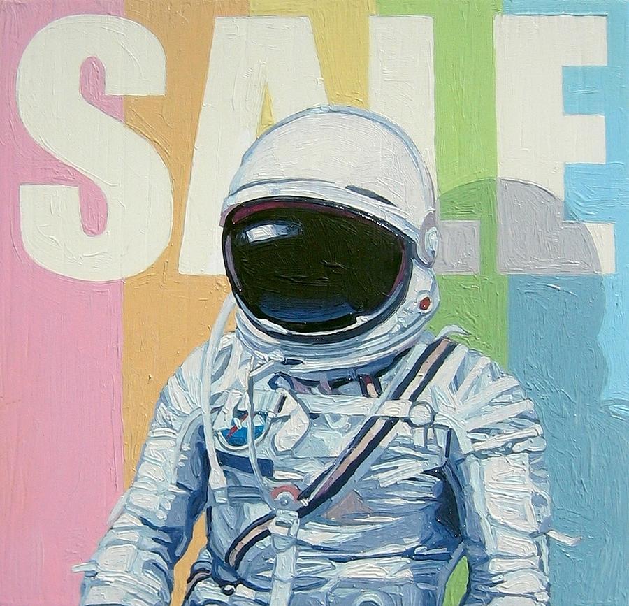 Astronaut Painting - Sale by Scott Listfield