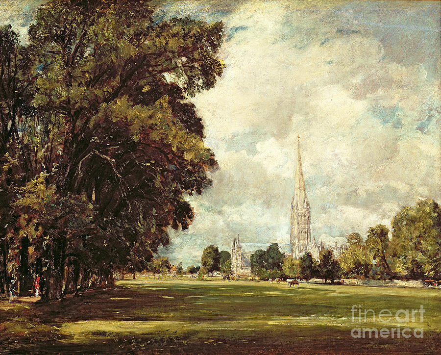 Church Painting - Salisbury Cathedral From Lower Marsh Close by John Constable