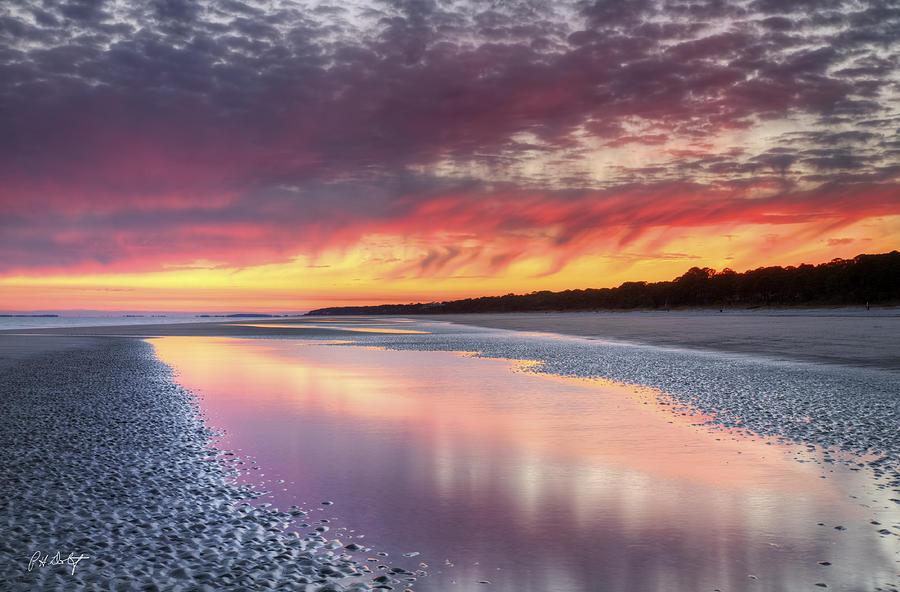 Beach Photograph - Same Night Six Fifteen by Phill Doherty
