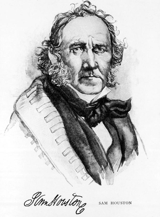 Samuel Houston, 1793-1863, American Photograph