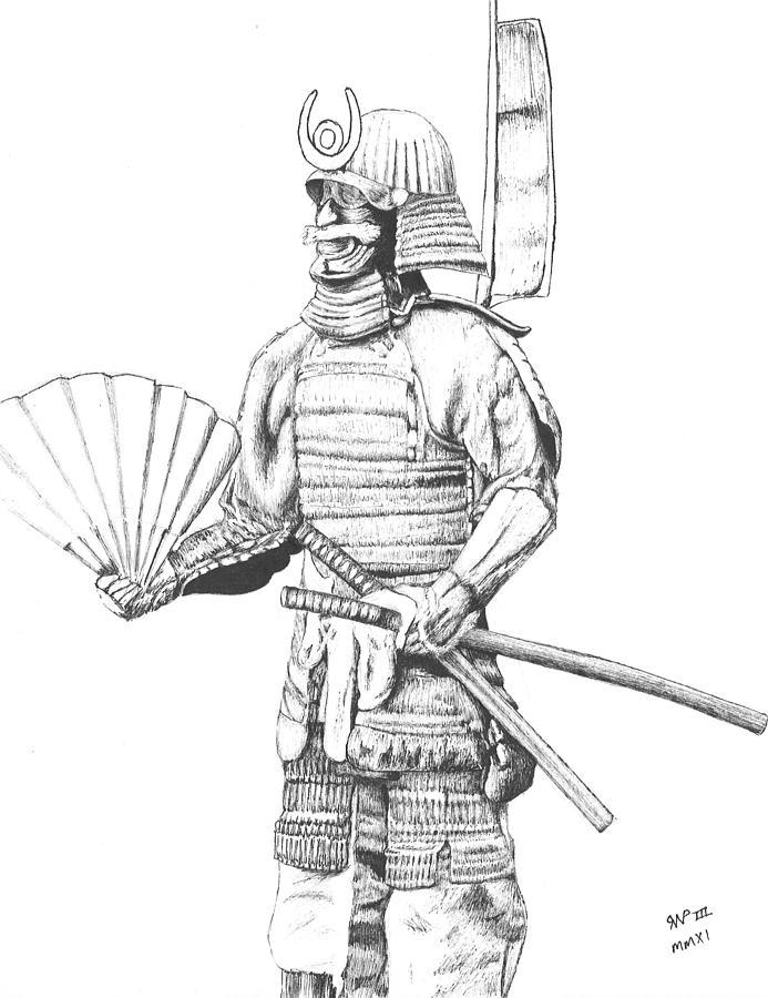 how to draw a samurai helmet step by step