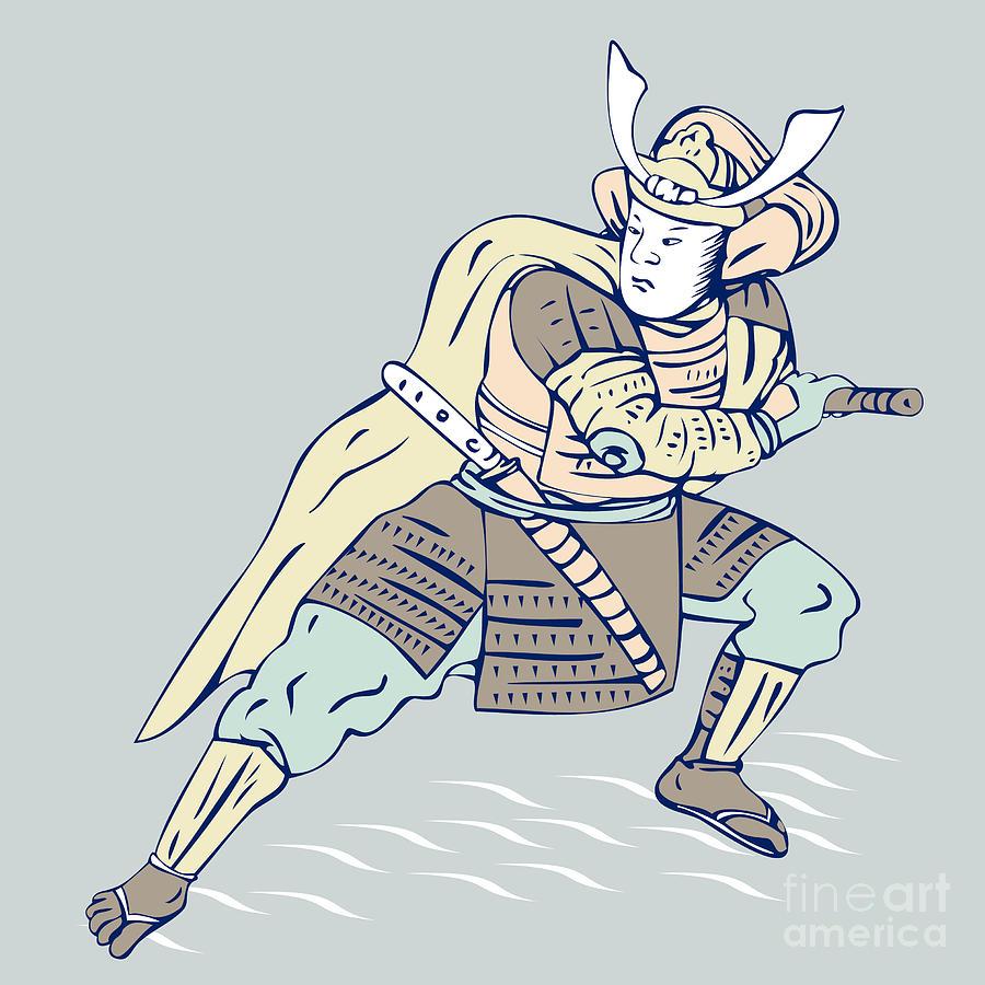 Warrior Digital Art - Samurai Warrior by Aloysius Patrimonio