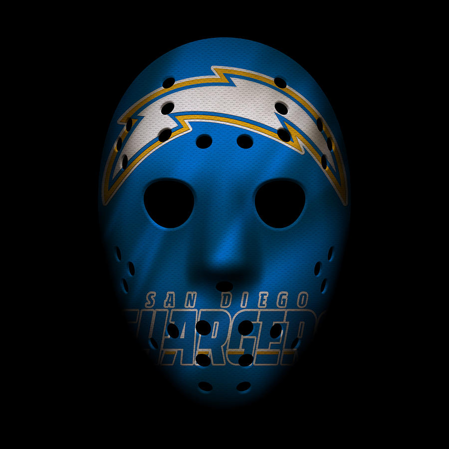 San Diego Chargers Art: San Diego Chargers War Mask 3 Photograph By Joe Hamilton