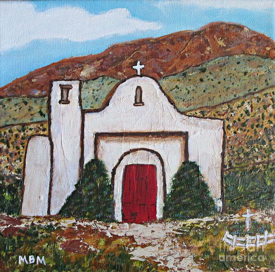 church painting san francisco de asis mission church golden nm by mary mirabal adobe tank san francisco