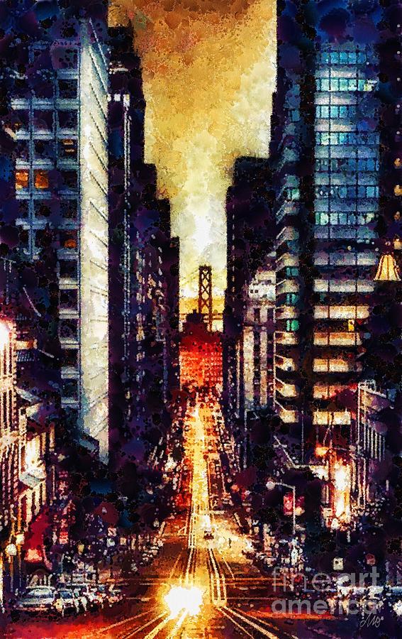 San Francisco Painting - San Francisco by Mo T