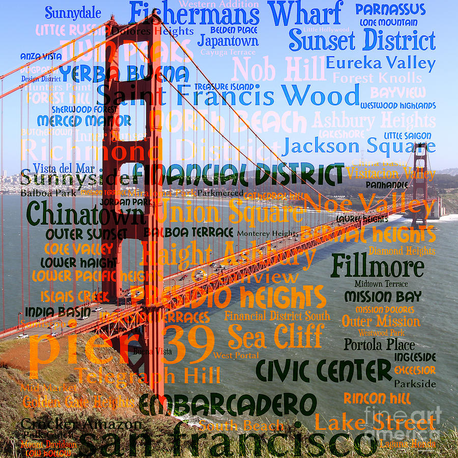 Art Places In San Francisco: San Francisco Places To Visit The Golden Gate Bridge