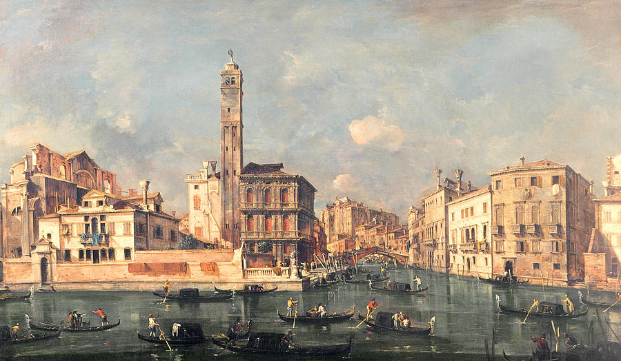 Grand Canal: San Geremia And The Entrance To The Canneregio Painting - San Geremia And The Entrance To The Canneregio by Francesco Guardi