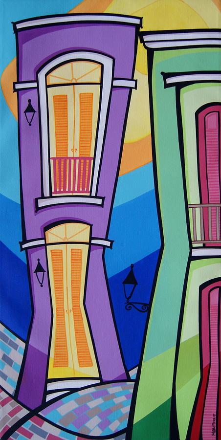 Puerto Rico Painting - San Juan Alegre-4 by Mary Tere Perez