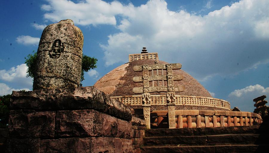 World Heritage Site Photograph - Sanchi Stupa  by Mohammed Nasir