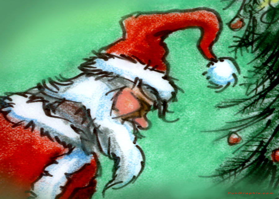 Santa Painting - Santa Claus by Kevin Middleton