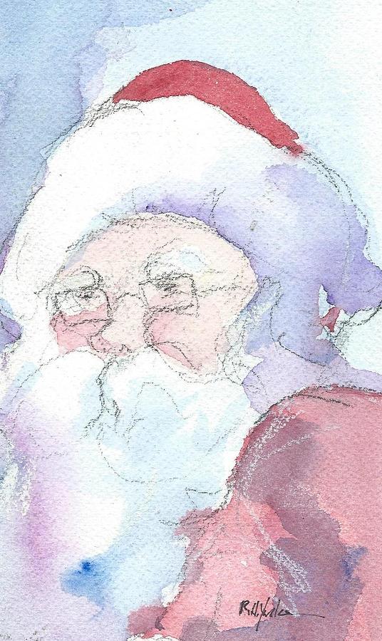 Santa Painting - Santa  by Robert Yonke