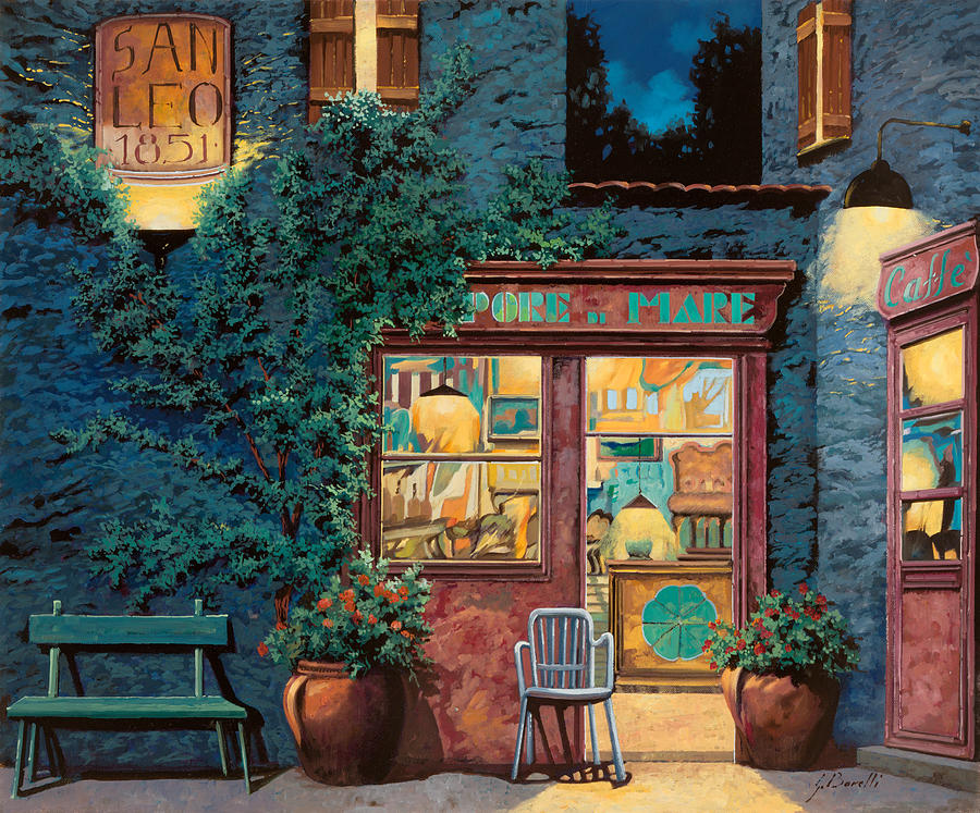 Courtyard Painting - Sapore Di Mare by Guido Borelli