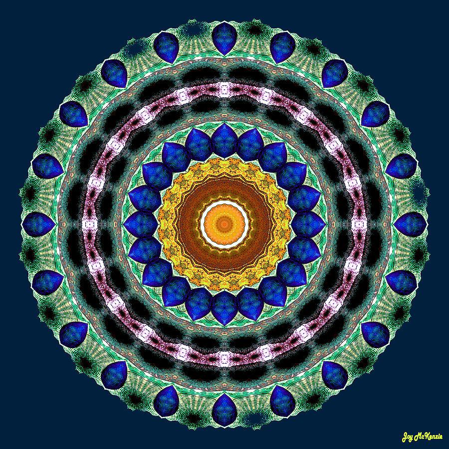 Digital Digital Art - Sapphire Necklace Mandala by Joy McKenzie