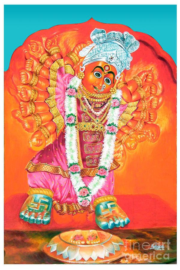 Saptashrungi Devi Nasik Painting - Saptashrungi Devi Nasik Maharashtra by Kalpana Talpade Ranadive