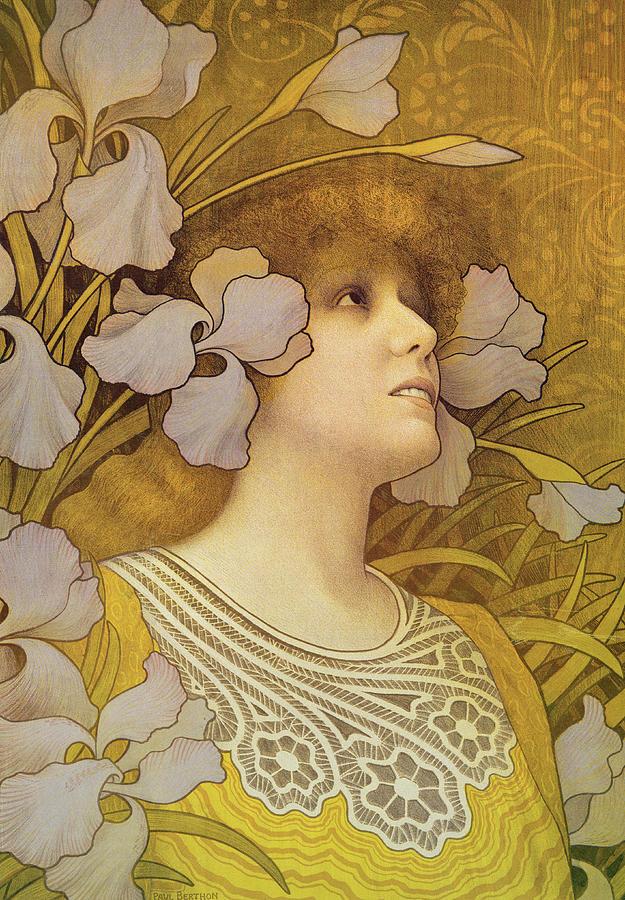Sarah Bernhardt (1844-1923) (litho) By Paul Berthon (1872-1909) Painting - Sarah Bernhardt by Paul Berthon