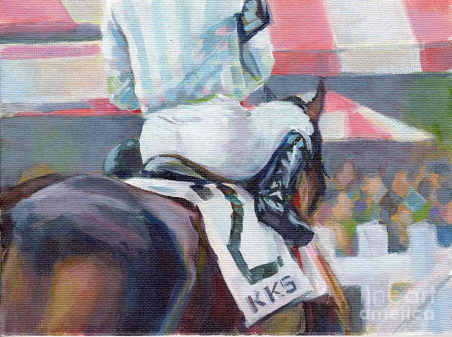 Horse Racing Painting - Saratoga Stripes by Kimberly Santini