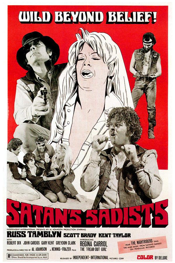 1960s Movies Photograph - Satans Sadists, Russ Tamblyn Bottom by Everett