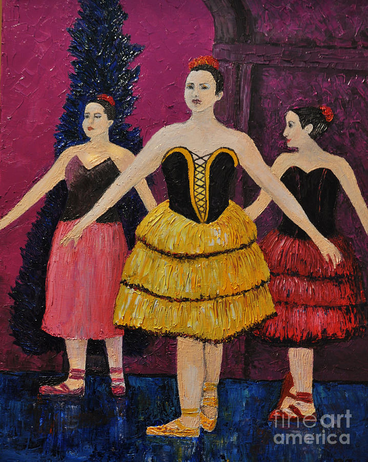 Ballerinas Painting - Savannah by Reb Frost