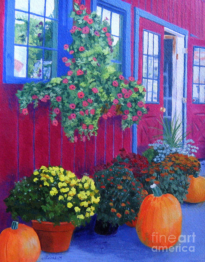 Acrylic Painting - Savickis Market by Lynne Reichhart