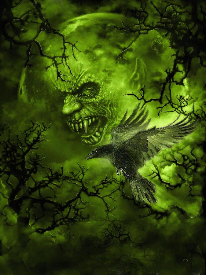 Scary Moon Digital Art