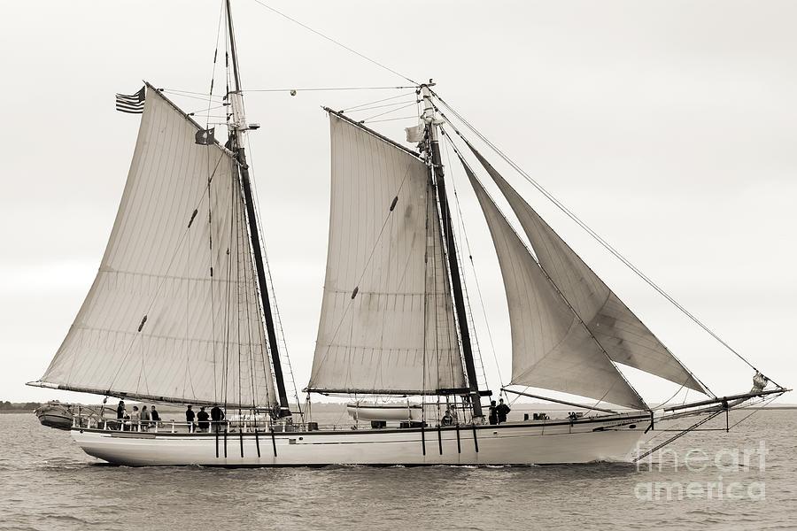 Schooner Harvey Gamage Of Islesboro Maine Photograph