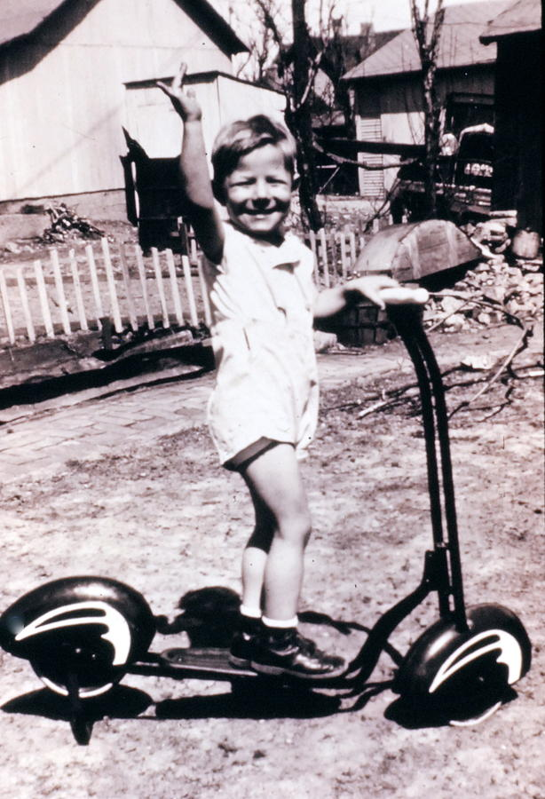 Vintage Photograph - Scooter 1941 by Don Wolf